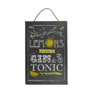 Lemons Make A Gin & Tonic Slate Plaque